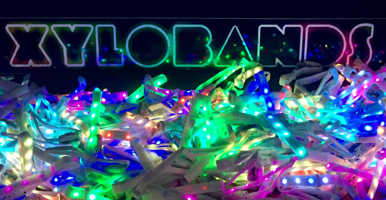 XYLOBANDS intelligent LED wristbands