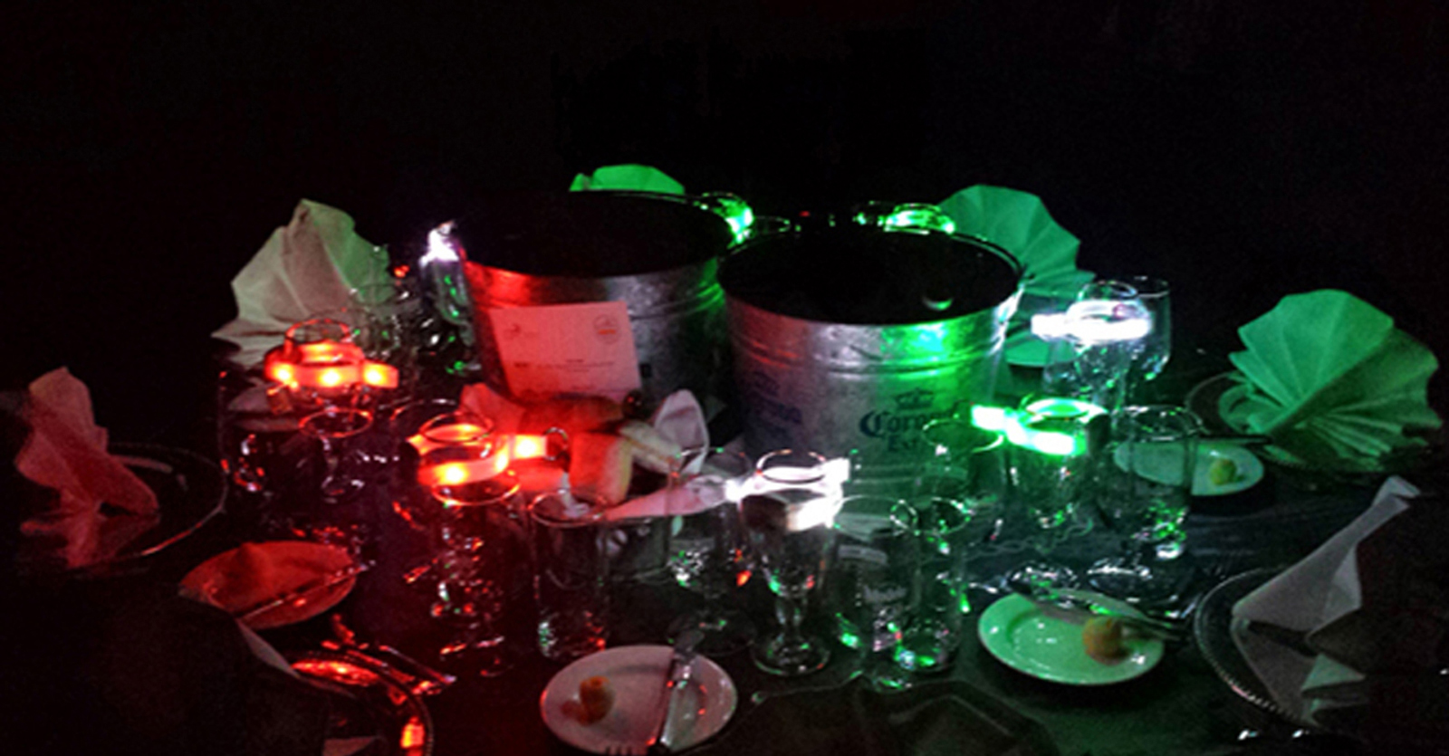RGB Xylobands light up a table at Mexico special event with TLC