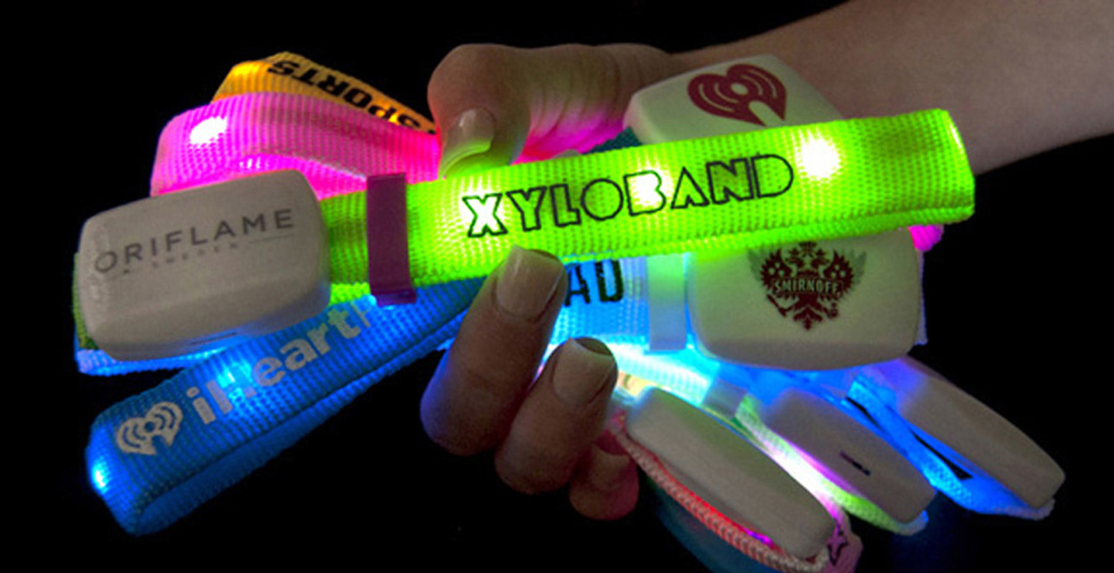 Xylobands USA handfull